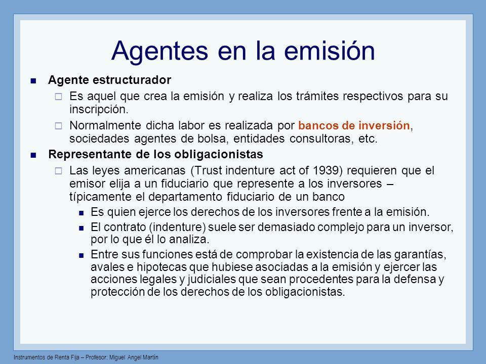 Agentes en la emisión Agente estructurador