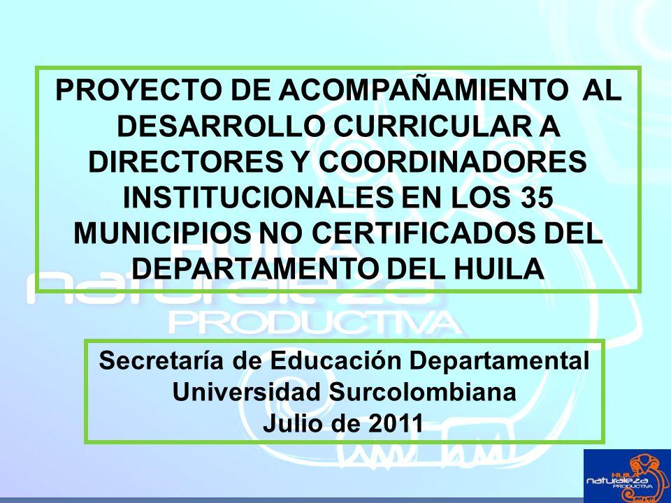 Secretaría de Educación Departamental Universidad Surcolombiana
