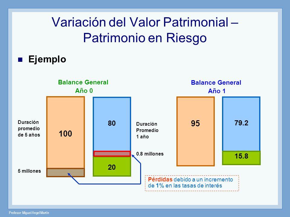Variación del Valor Patrimonial – Patrimonio en Riesgo