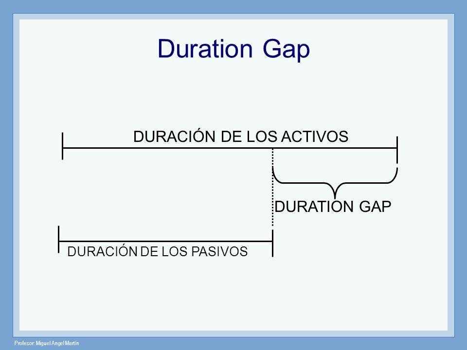 Duration Gap DURACIÓN DE LOS ACTIVOS DURATION GAP