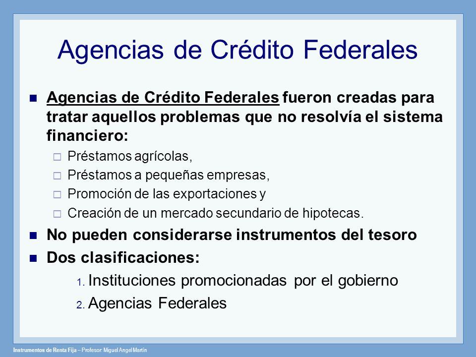 Agencias de Crédito Federales