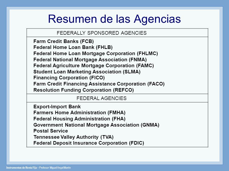 Resumen de las Agencias