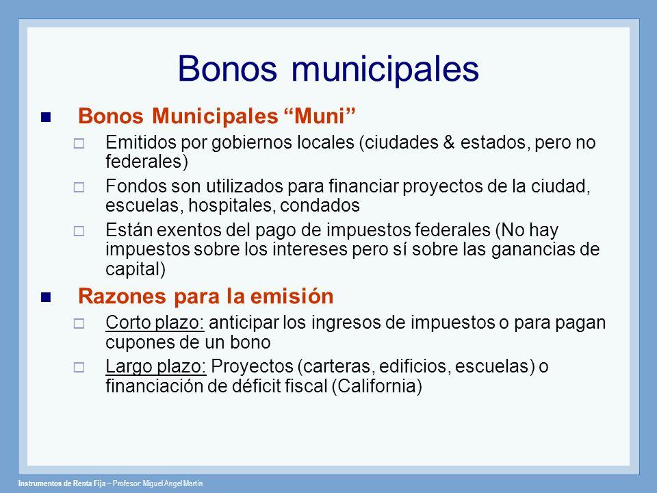 Bonos municipales Bonos Municipales Muni Razones para la emisión