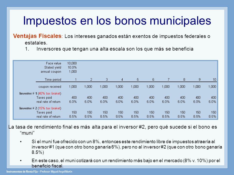 Impuestos en los bonos municipales