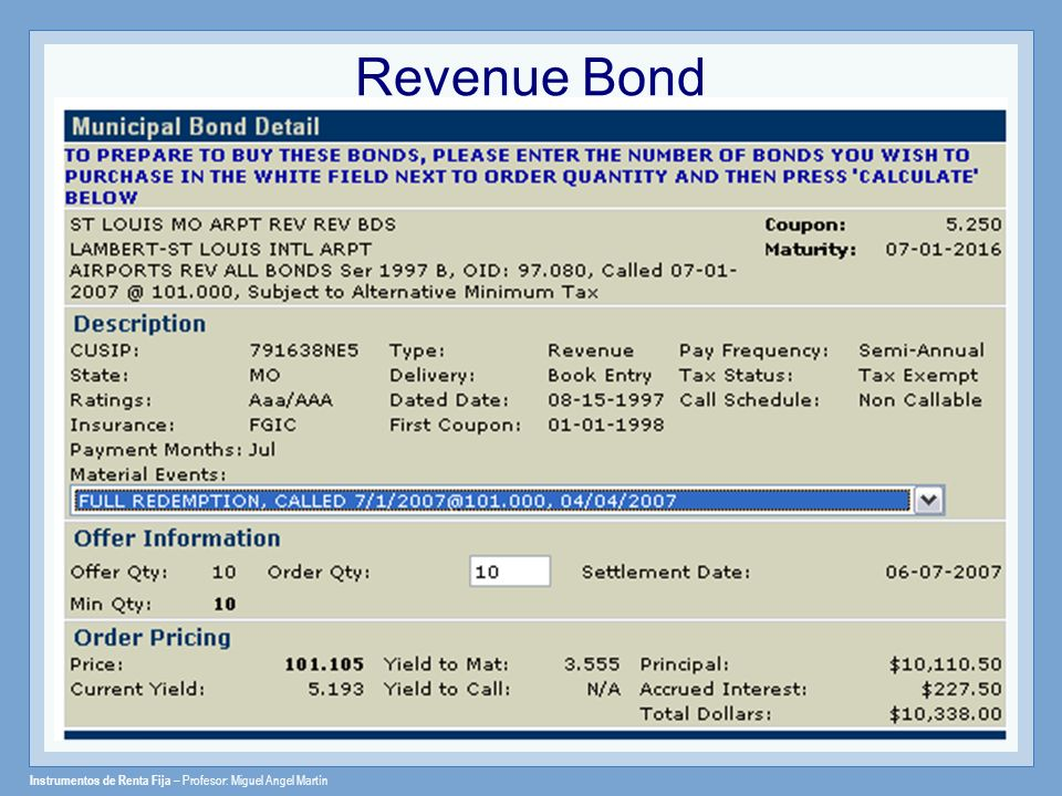Revenue Bond