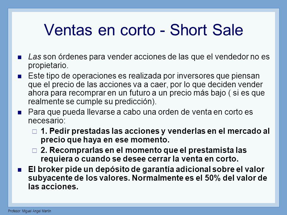 Ventas en corto - Short Sale