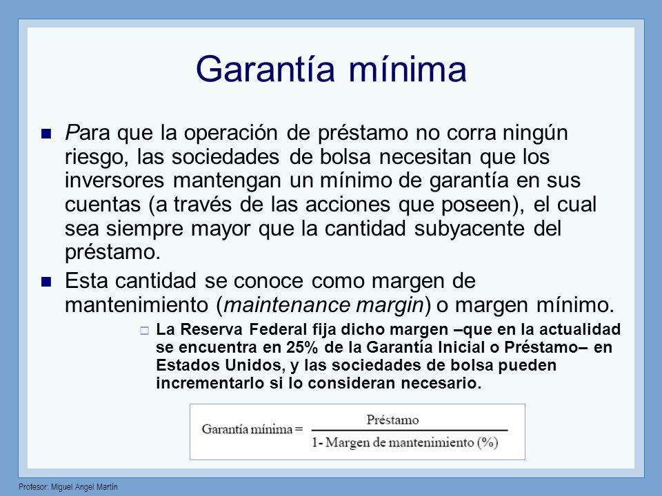 Garantía mínima