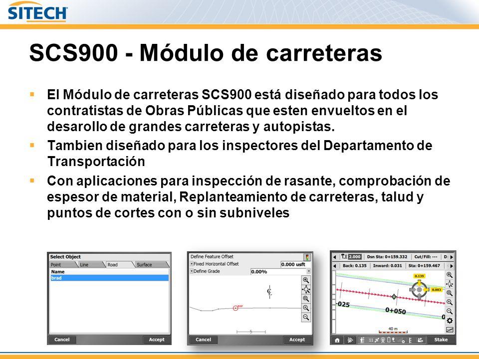SCS900 - Módulo de carreteras