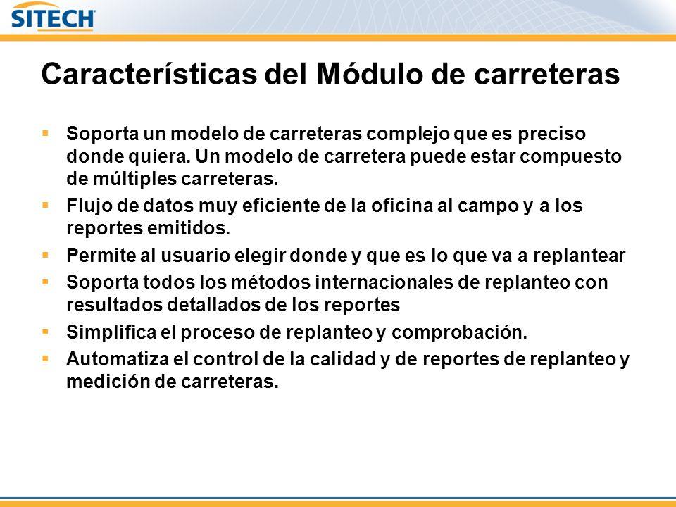 Características del Módulo de carreteras