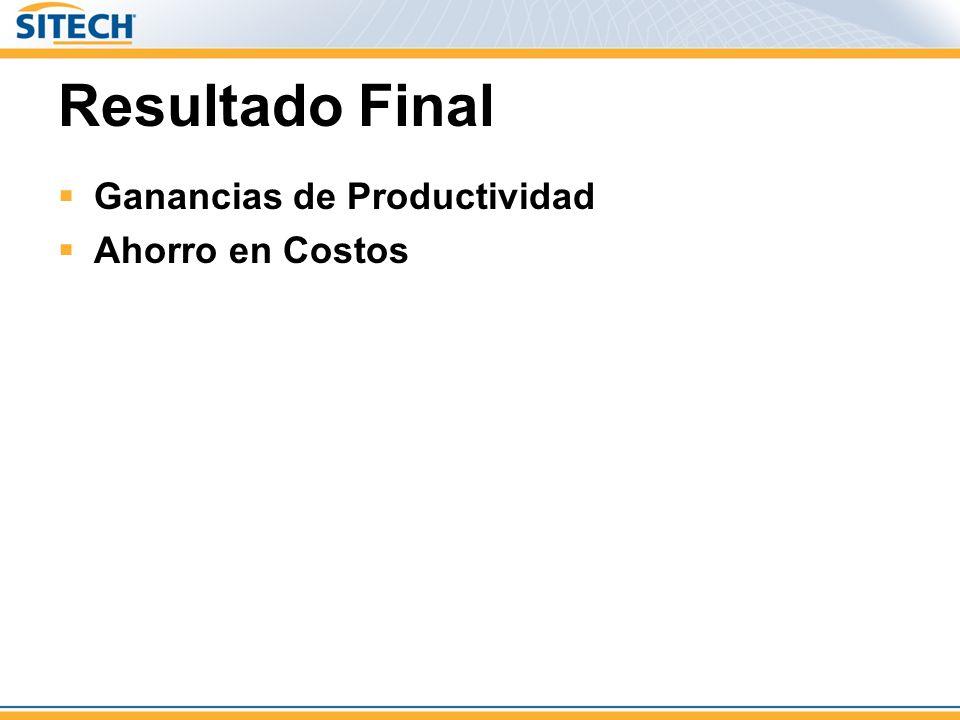 Resultado Final Ganancias de Productividad Ahorro en Costos 25