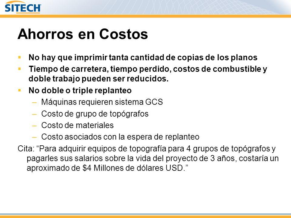 Ahorros en Costos No hay que imprimir tanta cantidad de copias de los planos.