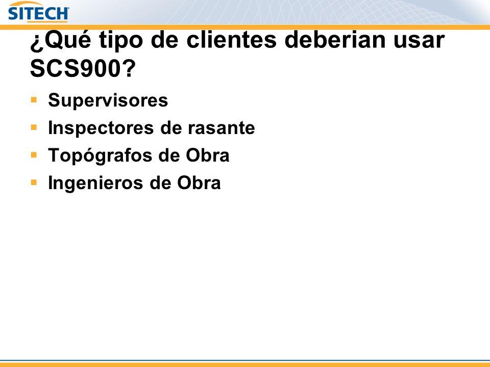 ¿Qué tipo de clientes deberian usar SCS900
