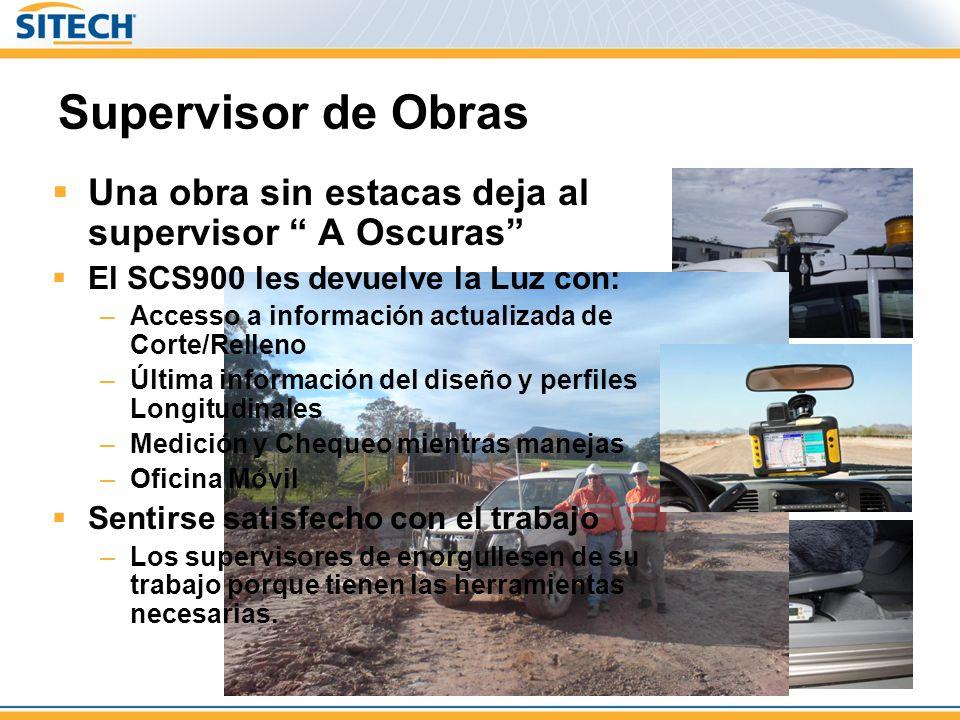 Supervisor de Obras Una obra sin estacas deja al supervisor A Oscuras El SCS900 les devuelve la Luz con: