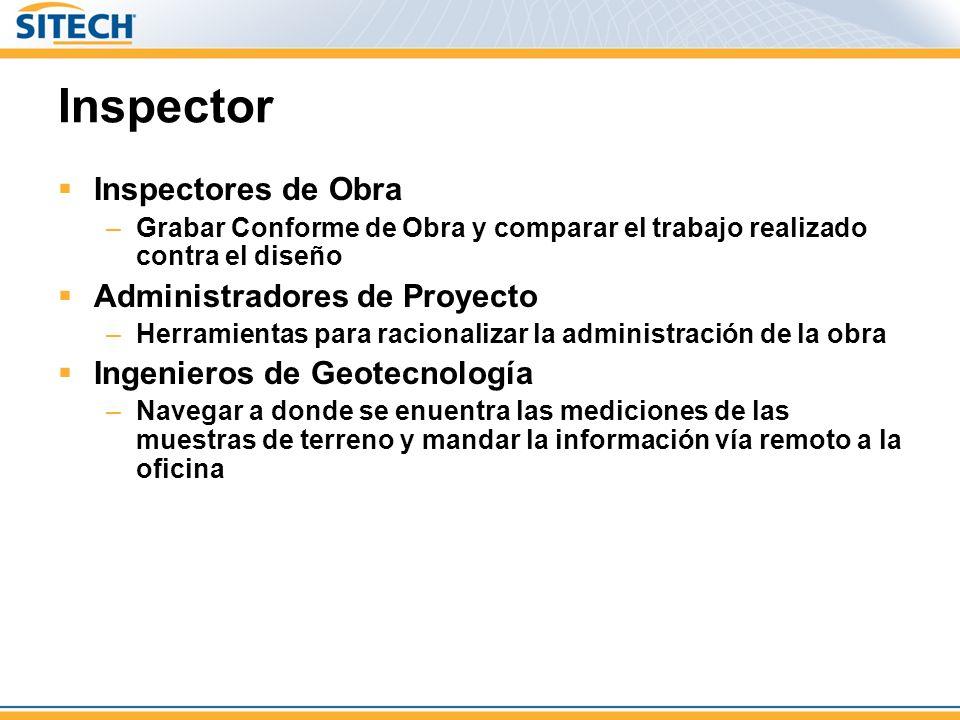 Inspector Inspectores de Obra Administradores de Proyecto
