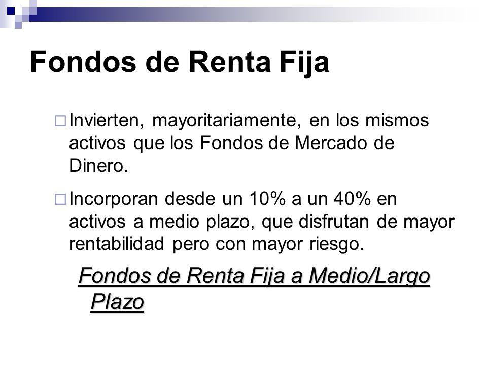 Fondos de Renta Fija Fondos de Renta Fija a Medio/Largo Plazo