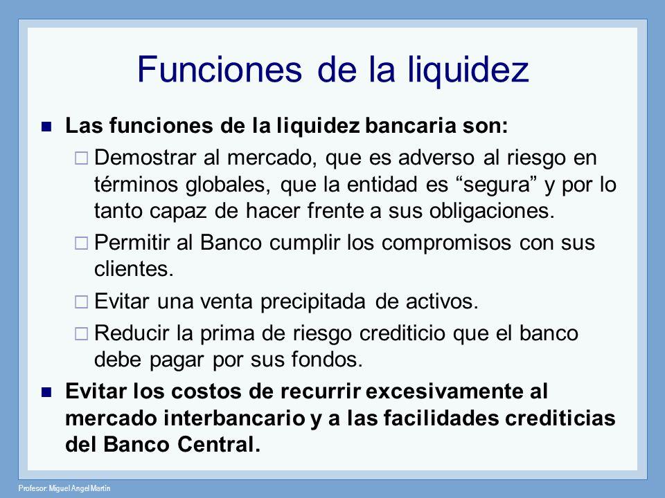 Funciones de la liquidez