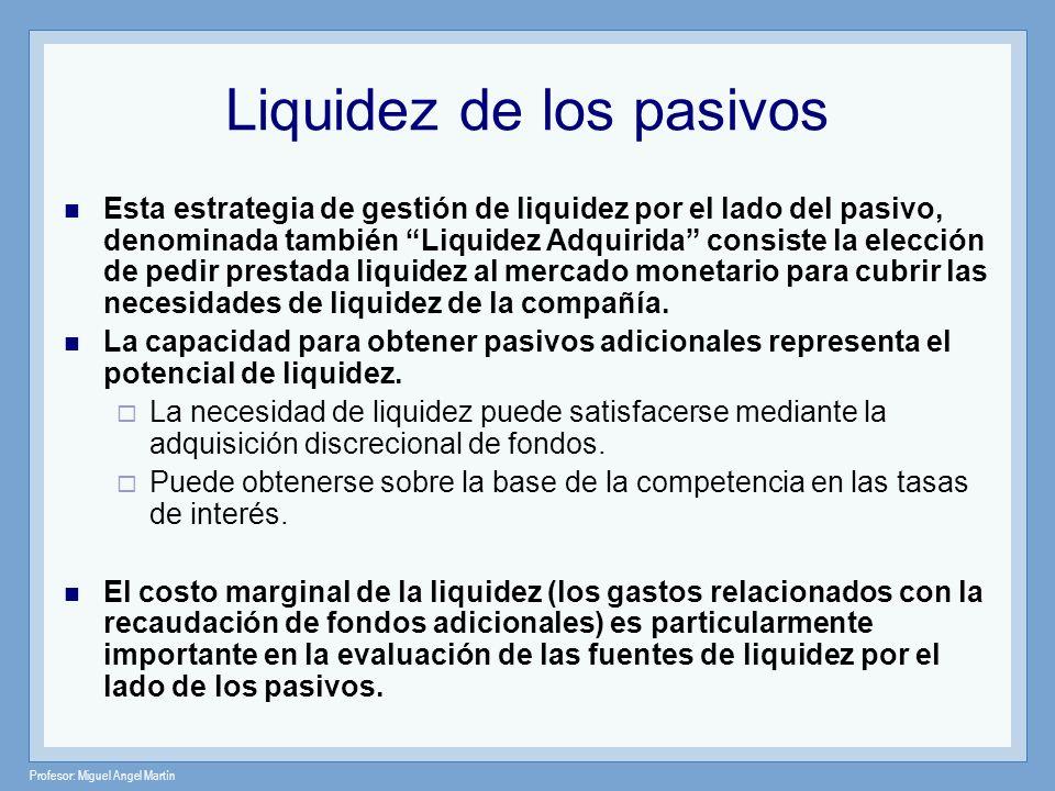 Liquidez de los pasivos