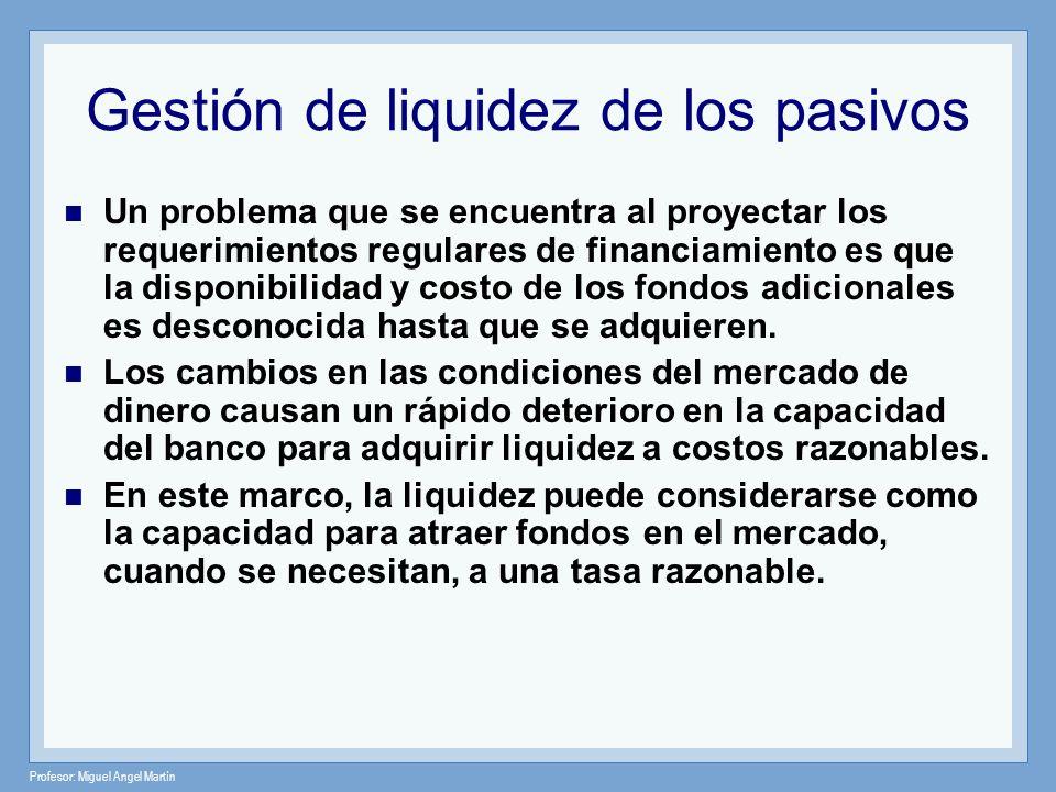 Gestión de liquidez de los pasivos