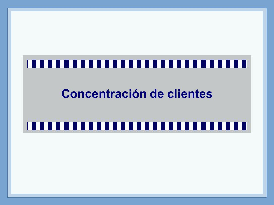 Concentración de clientes