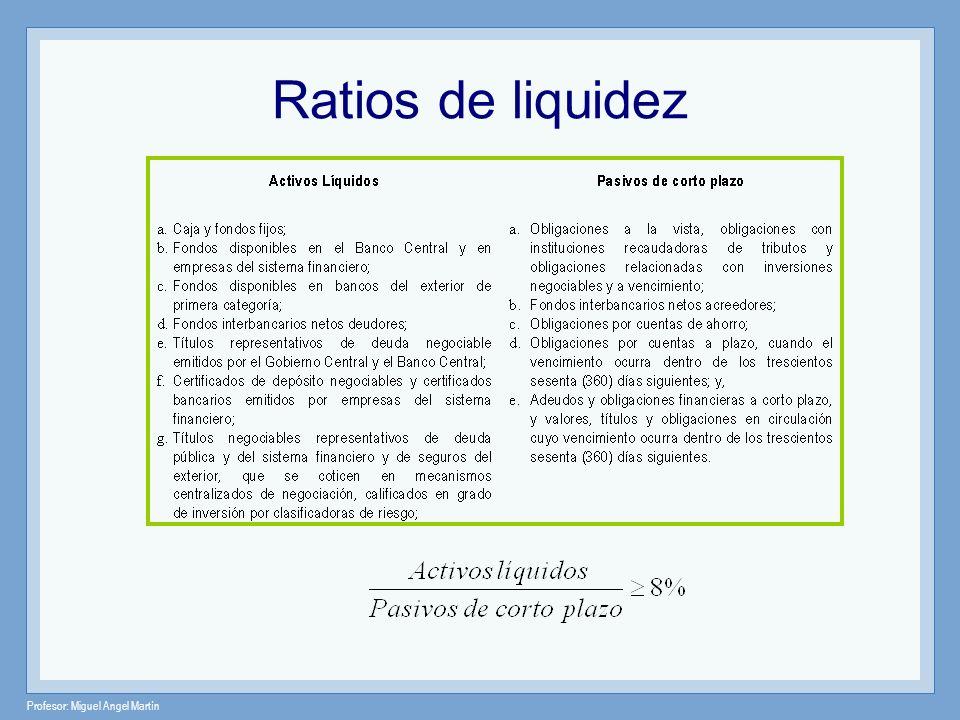 Ratios de liquidez