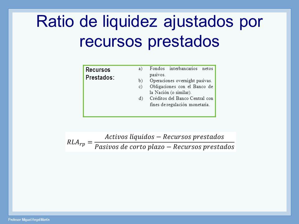 Ratio de liquidez ajustados por recursos prestados