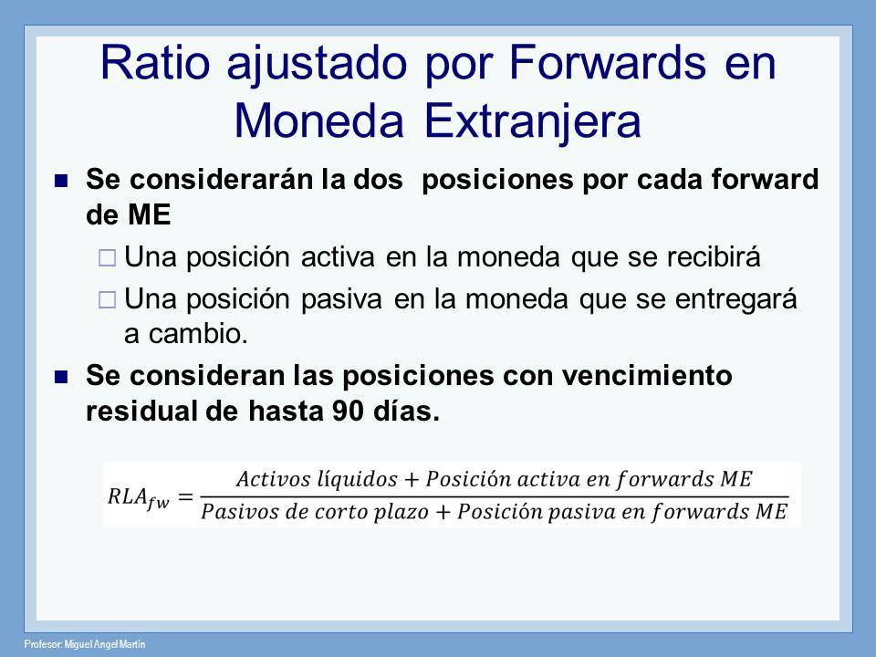 Ratio ajustado por Forwards en Moneda Extranjera