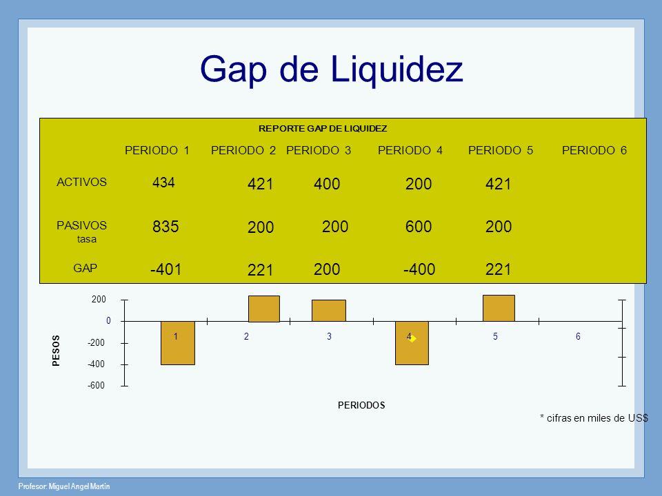 Gap de Liquidez REPORTE GAP DE LIQUIDEZ. 1. PERIODO 1. 434. 835. -401. PERIODO 2. 421. 200.