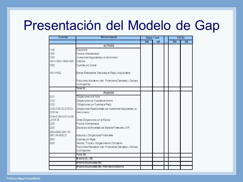 Presentación del Modelo de Gap