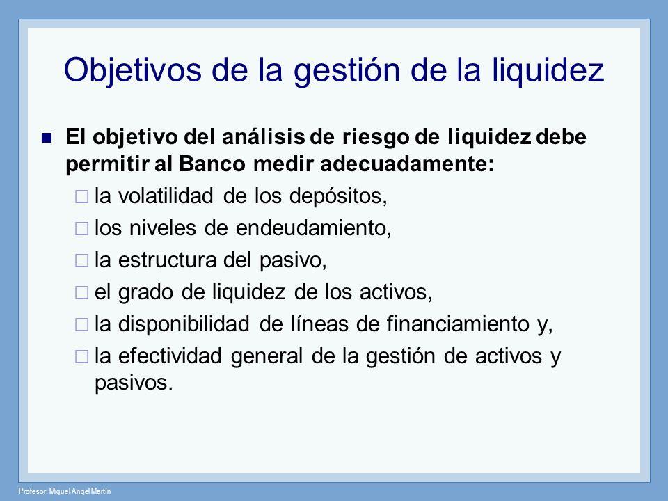 Objetivos de la gestión de la liquidez