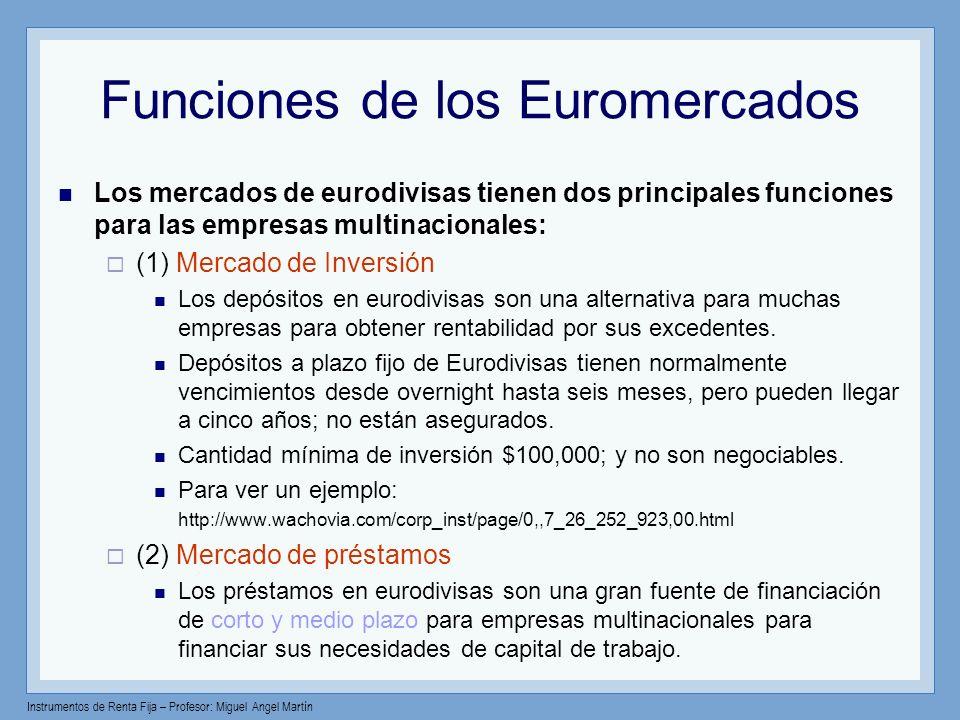 Funciones de los Euromercados