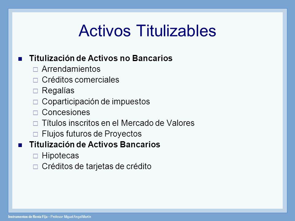 Activos Titulizables Titulización de Activos no Bancarios