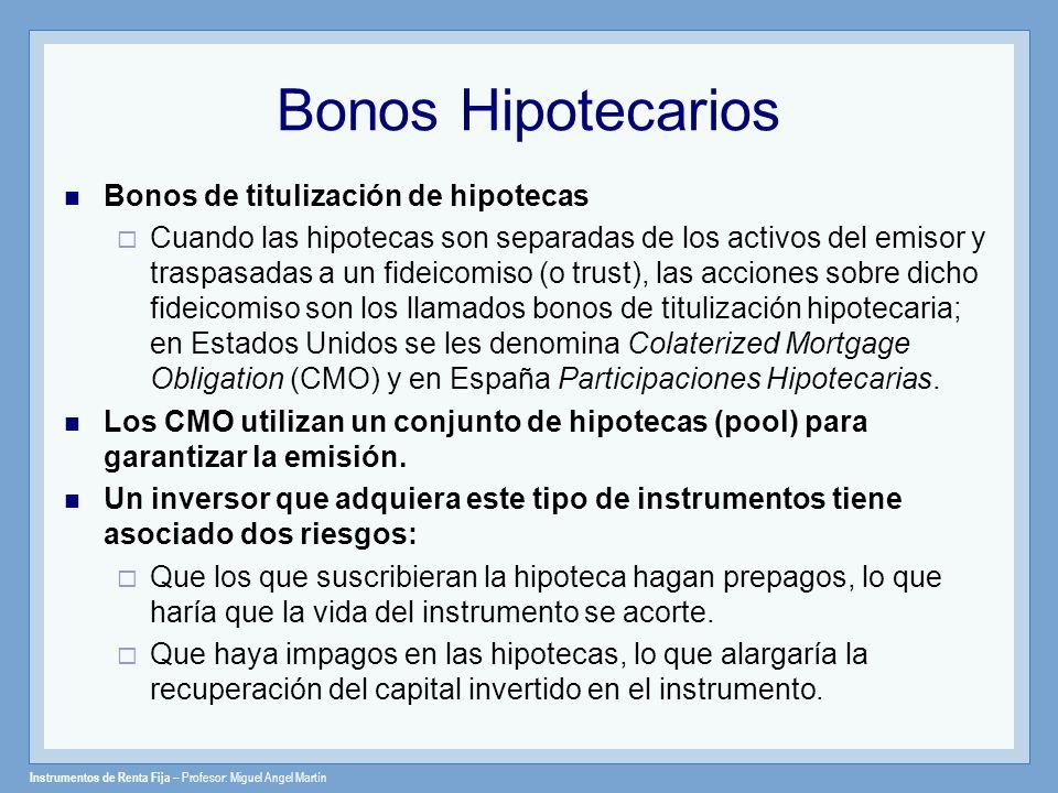 Bonos Hipotecarios Bonos de titulización de hipotecas