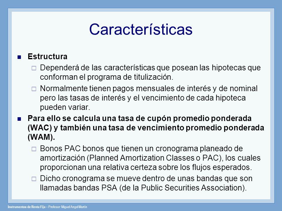 Características Estructura
