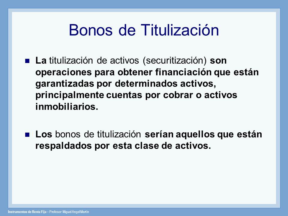 Bonos de Titulización