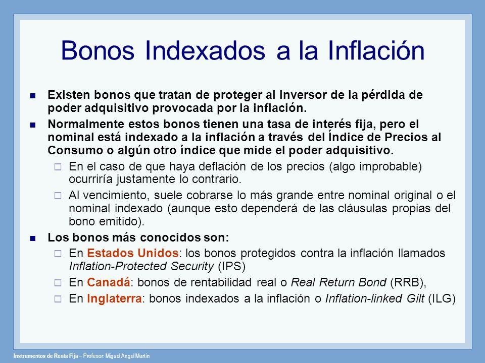 Bonos Indexados a la Inflación