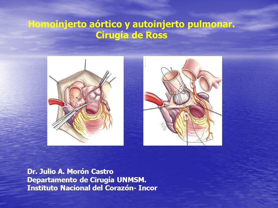 Homoinjerto aórtico y autoinjerto pulmonar.