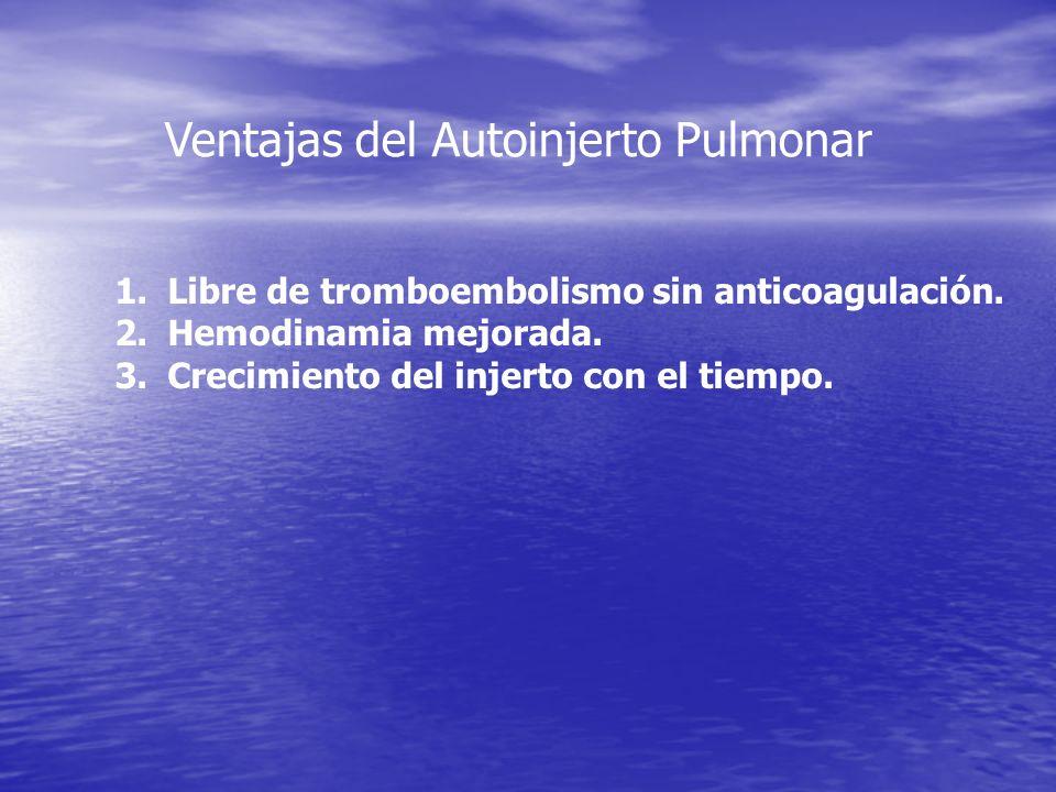 Ventajas del Autoinjerto Pulmonar