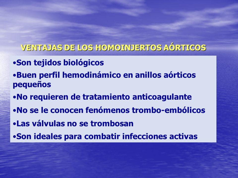VENTAJAS DE LOS HOMOINJERTOS AÓRTICOS