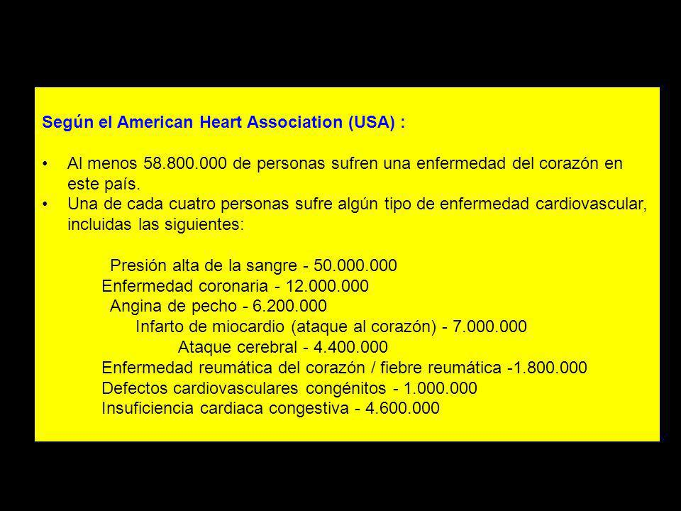 Según el American Heart Association (USA) :