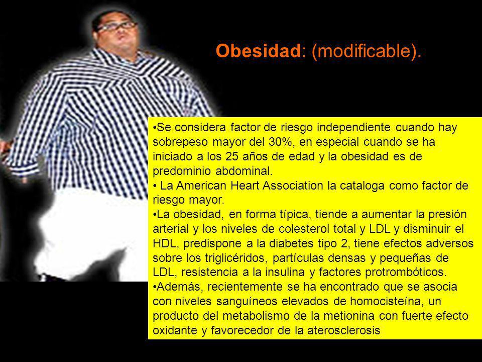 Obesidad: (modificable).