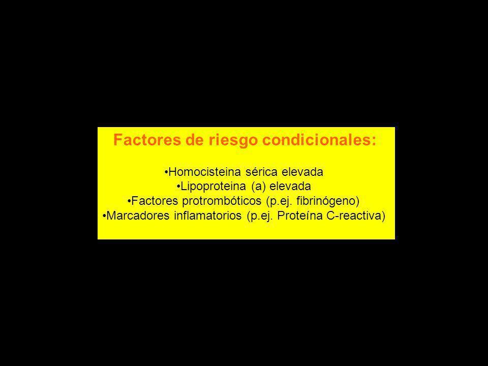 Factores de riesgo condicionales: