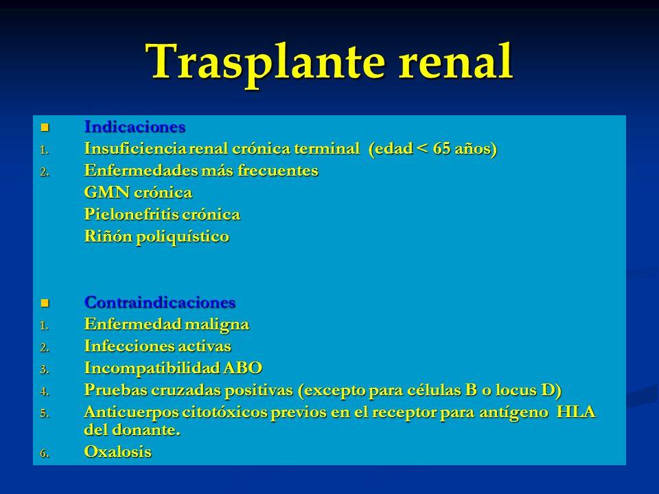 Trasplante renal Indicaciones