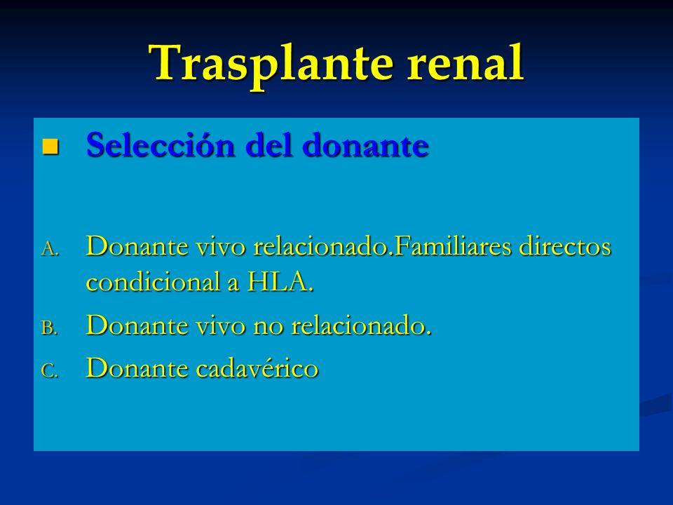 Trasplante renal Selección del donante