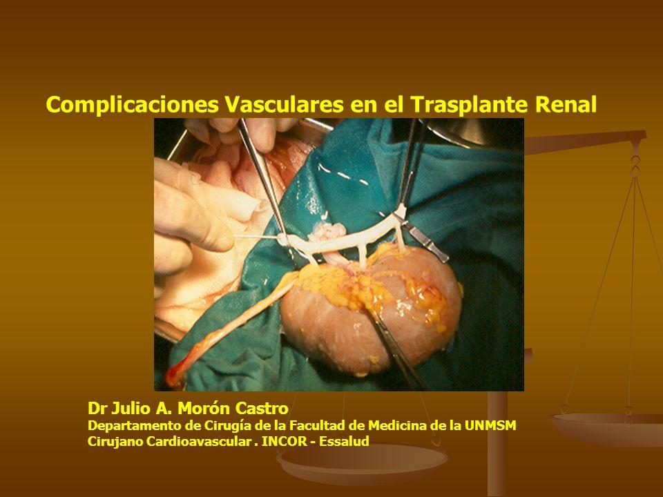 Complicaciones Vasculares en el Trasplante Renal