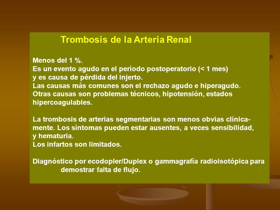 Trombosis de la Arteria Renal