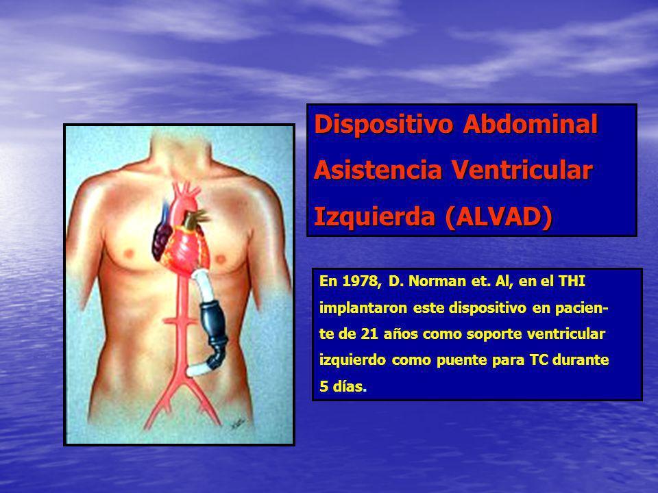 Dispositivo Abdominal Asistencia Ventricular Izquierda (ALVAD)