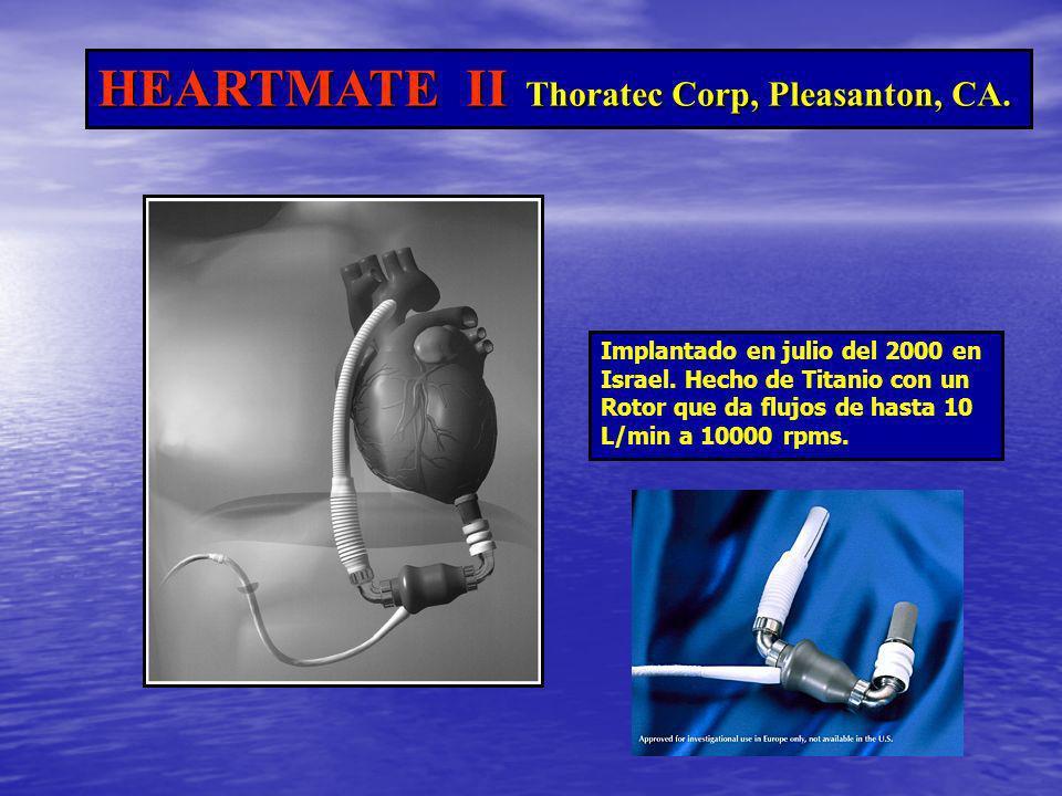 HEARTMATE II Thoratec Corp, Pleasanton, CA.