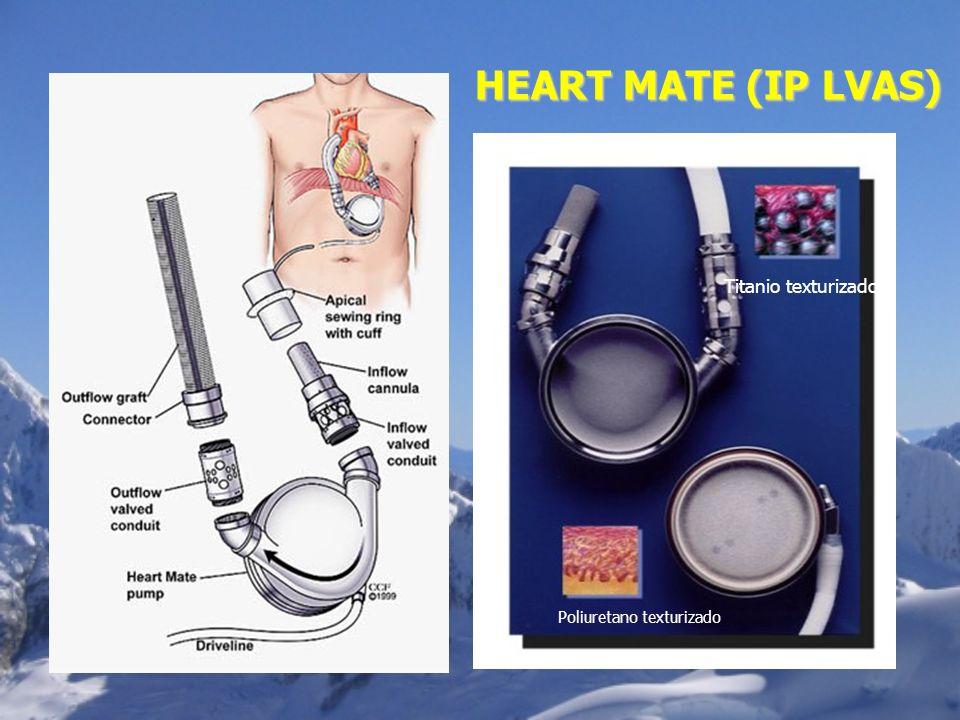 HEART MATE (IP LVAS) Titanio texturizado Poliuretano texturizado
