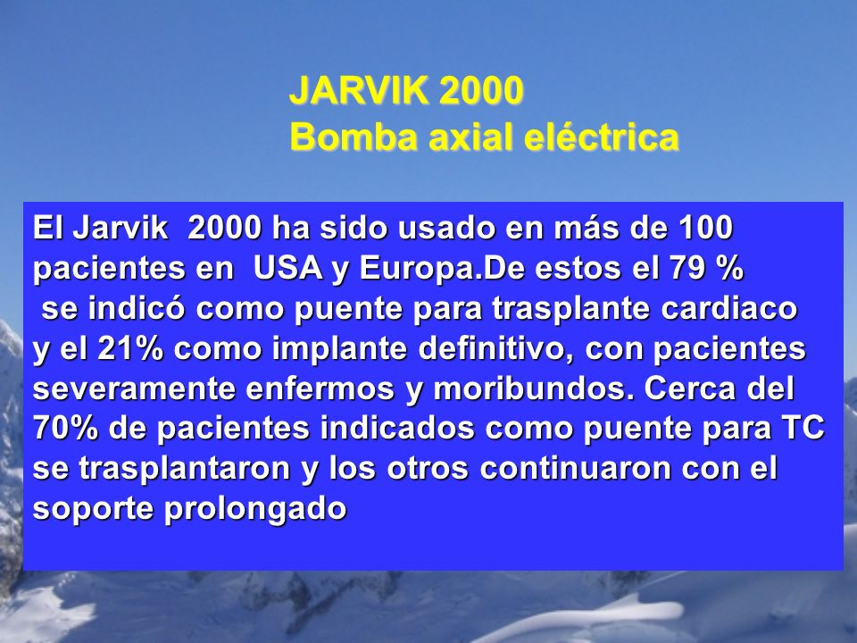 JARVIK 2000 Bomba axial eléctrica