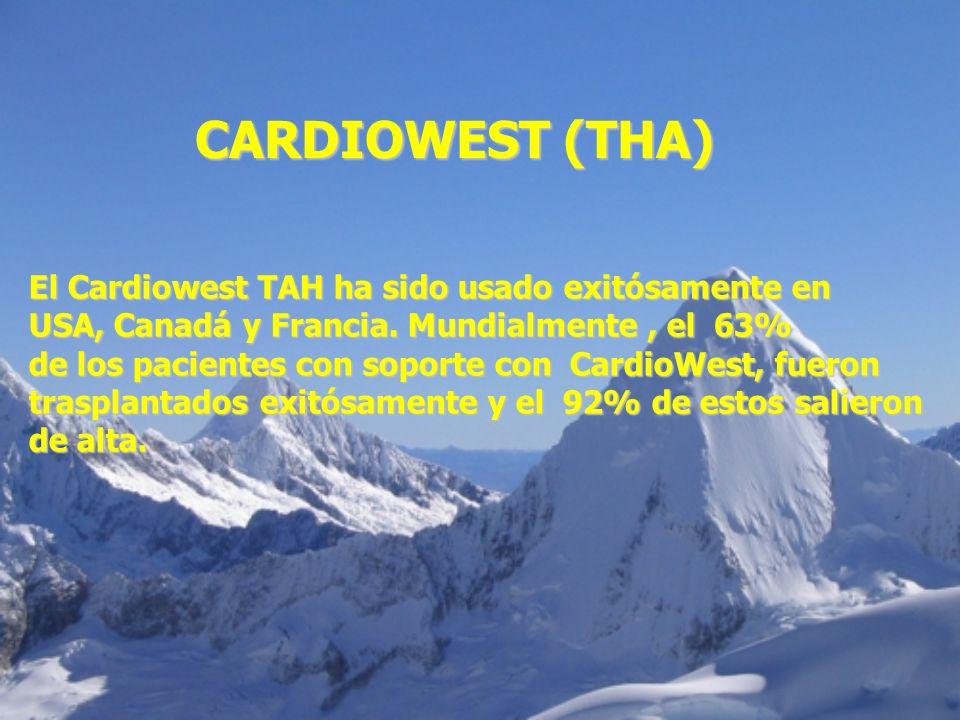 CARDIOWEST (THA) El Cardiowest TAH ha sido usado exitósamente en